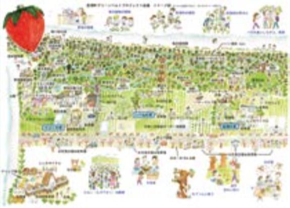 亘理町沿岸部「おらほの森」の基本構想図(マスタープラン)策定